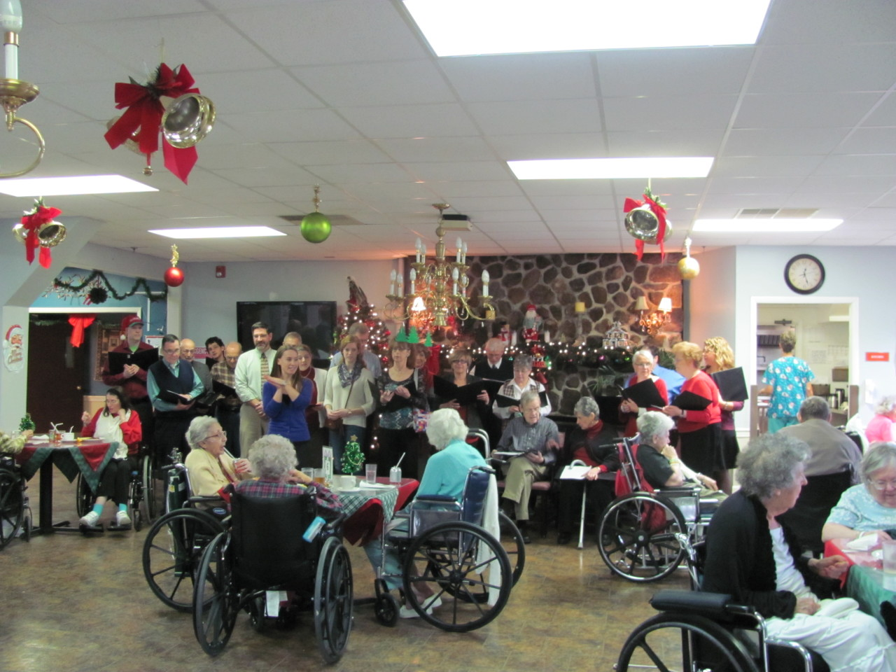 Christmas Caroling with choir and parishioners