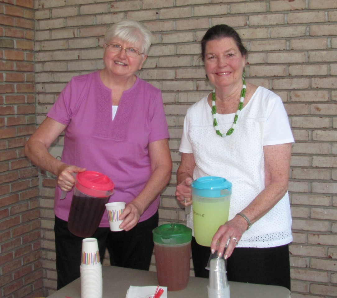 Join us for Iced Tea and Lemonade after services during the summer
