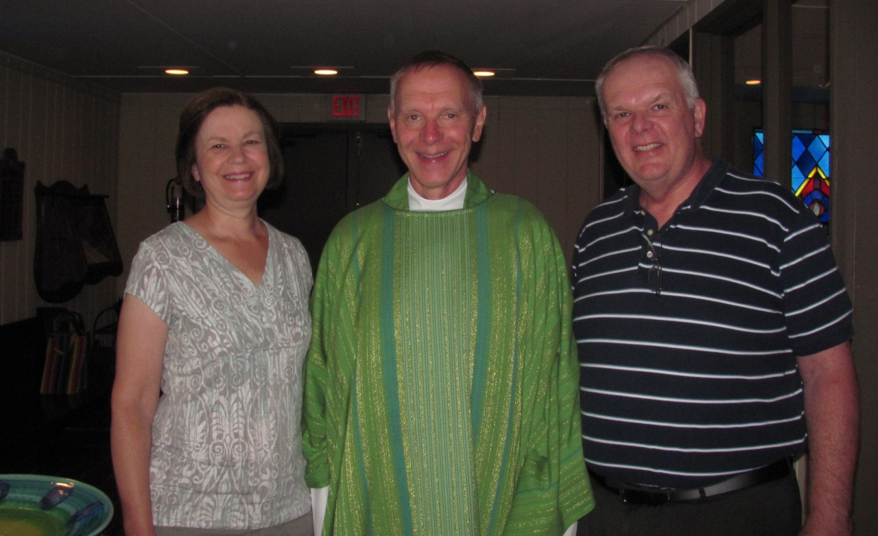 Welcome to St. David's from the Rector and two parishioners