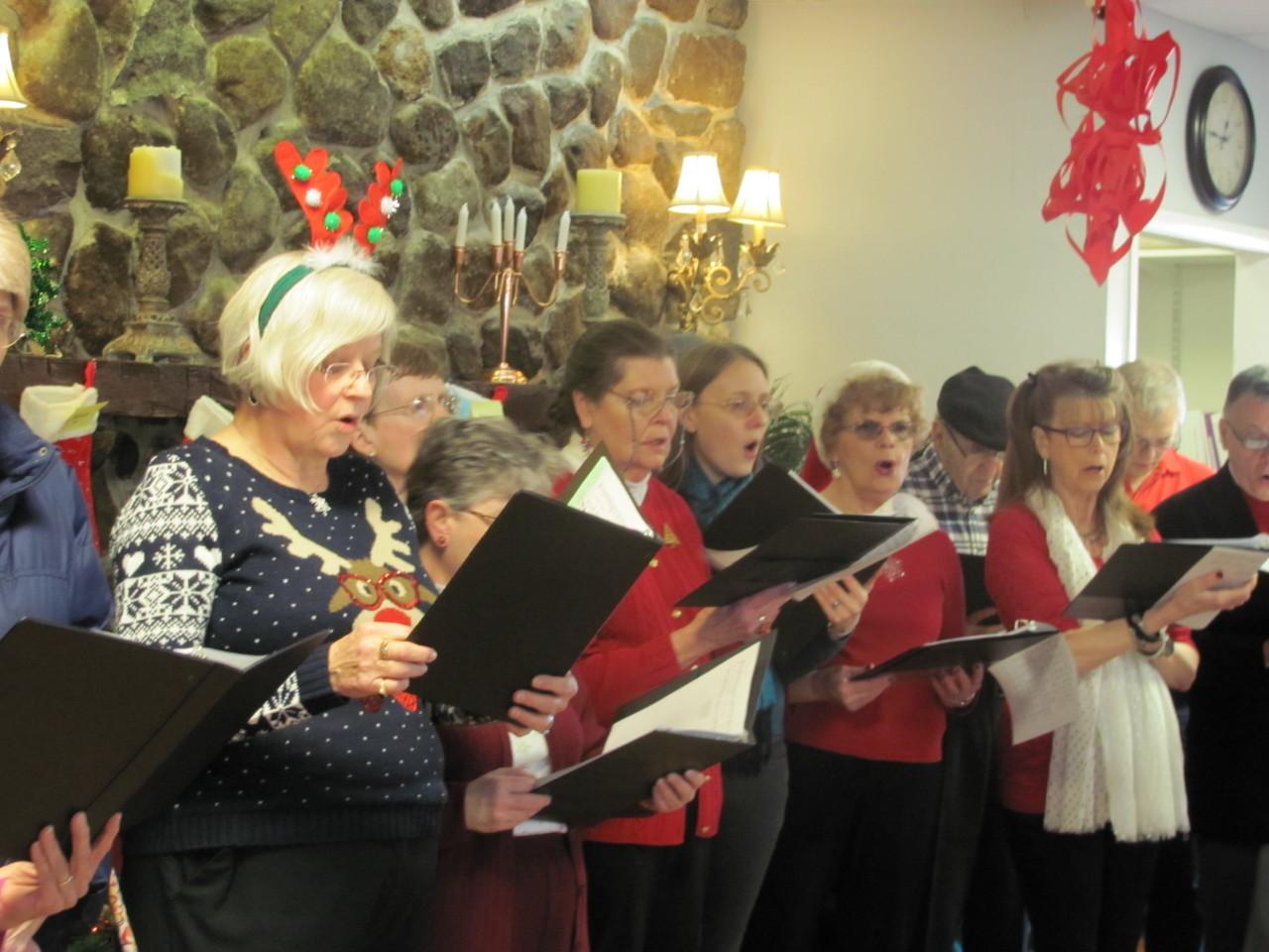 Carol singing December 2015