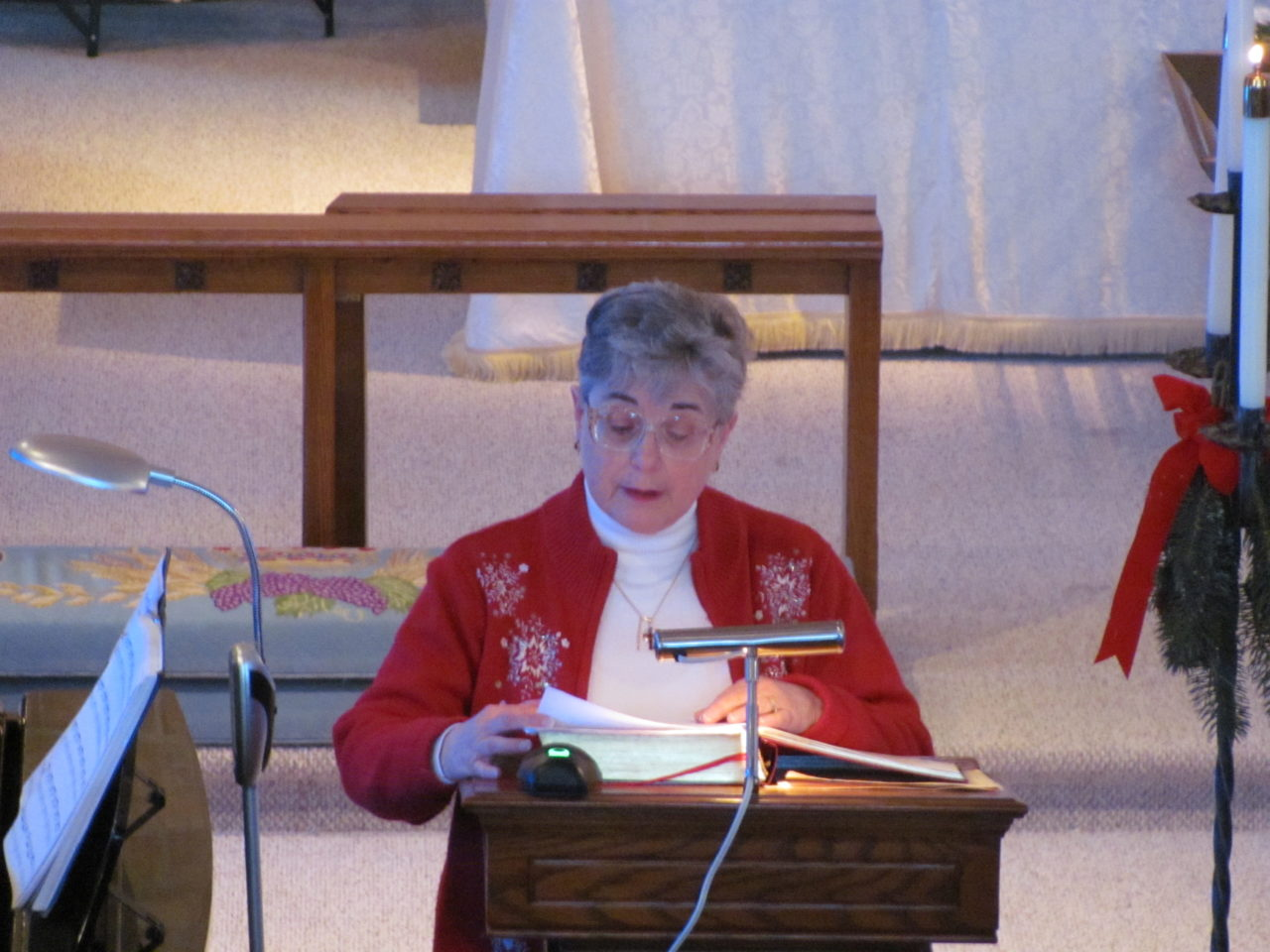 A Reader at our Lessons and Carols service